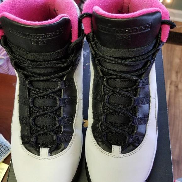newest 6ce29 12aff Jordan Retro 10's Vivid Pink, Black and white